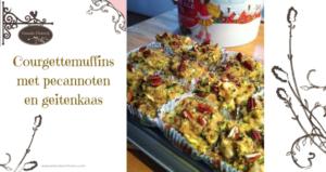Courgettemuffins met pecannoten en geitenkaas