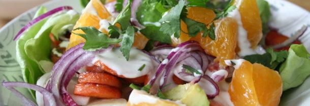 Salade met sinaasappel en witlof