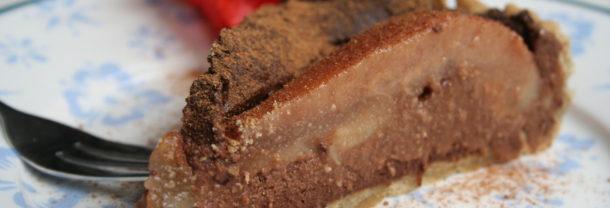 Chocoladetaart met peer en speculaaskruiden