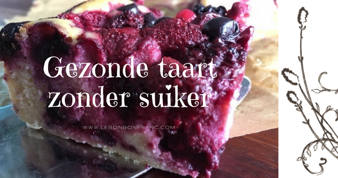 Gezonde taart zonder suiker